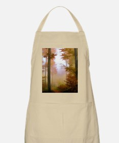 Foggy Autumn Forest Apron
