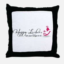 Happy Lickers Throw Pillow