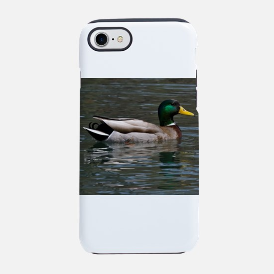 male mallard swimming iPhone 8/7 Tough Case