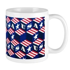 USA Tumbling Block Mugs