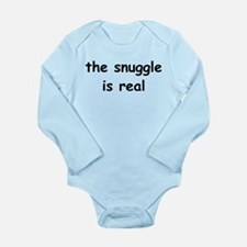 The Snuggle Is Real Long Sleeve Infant Bodysuit