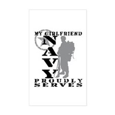 GF Proudly Serves 2 - NAVY Rectangle Decal