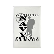 GF Proudly Serves 2 - NAVY Rectangle Magnet