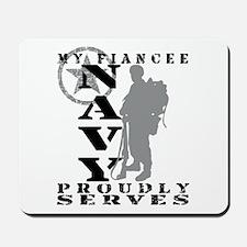 Fiancee Proudly Serves 2 - NAVY Mousepad