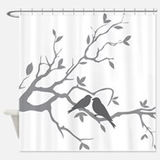 Love Birds on a branch Shower Curtain