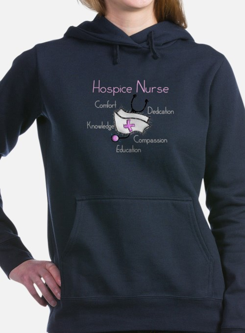 Cute Hospice nurse Women's Hooded Sweatshirt