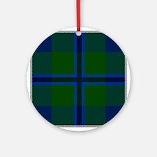 Douglas Scottish Tartan Round Ornament