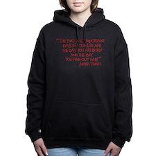 Cute Mark twain Women's Hooded Sweatshirt