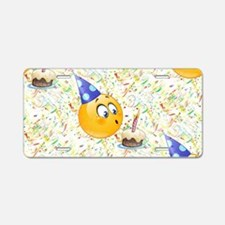 happy birthday emoji Aluminum License Plate