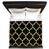 Black and gold King Duvet Covers