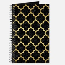TILE1 BLACK MARBLE & GOLD BRUSHED METAL Journal