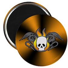 Flaming Skull Dragons Magnet