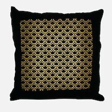 SCA2 BK MARBLE GOLD Throw Pillow