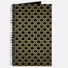 SCA2 BK MARBLE GOLD Journal