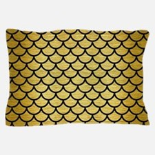 SCA1 BK MARBLE GOLD (R) Pillow Case