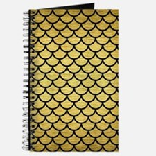 SCA1 BK MARBLE GOLD (R) Journal