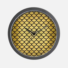SCA1 BK MARBLE GOLD (R) Wall Clock