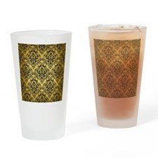 DMS1 BK MARBLE GOLD (R) Drinking Glass
