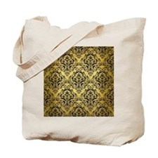 DMS1 BK MARBLE GOLD (R) Tote Bag