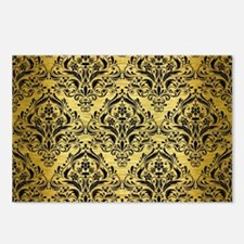 DMS1 BK MARBLE GOLD (R) Postcards (Package of 8)