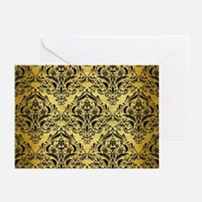 DMS1 BK MARBLE GOLD (R) Greeting Cards (Pk of 10)
