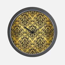 DMS1 BK MARBLE GOLD (R) Wall Clock