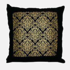 DMS1 BK MARBLE GOLD Throw Pillow