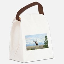 Rocky Mountain Elk Canvas Lunch Bag