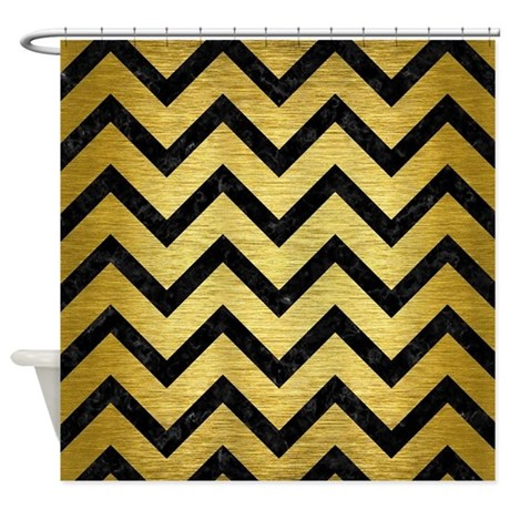 gold chevron shower curtain. chevron9 black marble \u0026 gold brushe shower curtain gold chevron e