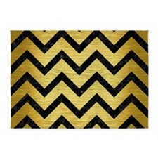 CHV9 BK MARBLE GOLD (R) 5'x7'Area Rug