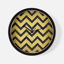 CHV9 BK MARBLE GOLD (R) Wall Clock