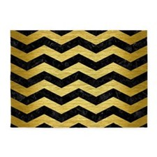 CHV3 BK MARBLE GOLD 5'x7'Area Rug