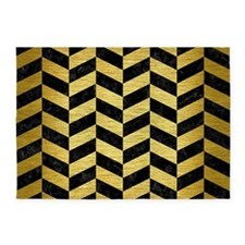 CHV1 BK MARBLE GOLD 5'x7'Area Rug