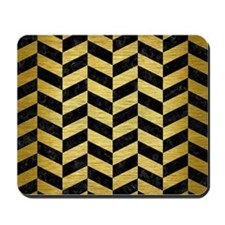 CHV1 BK MARBLE GOLD Mousepad