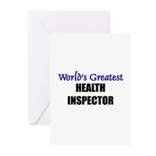 Worlds Greatest HEALTH INSPECTOR Greeting Cards (P