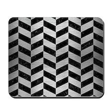 CHV1 BK MARBLE SILVER Mousepad