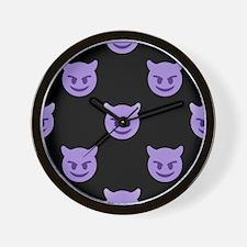 devil emoji Wall Clock