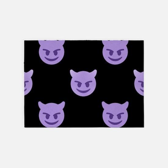 devil emoji 5'x7'Area Rug