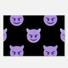 devil emoji Postcards (Package of 8)