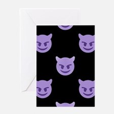 devil emoji Greeting Cards