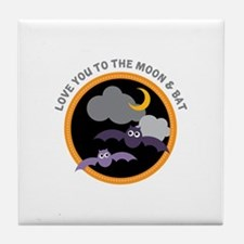 Moon & Bat Tile Coaster