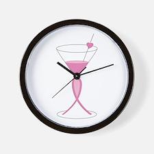 Awareness Ribbon Drink Wall Clock