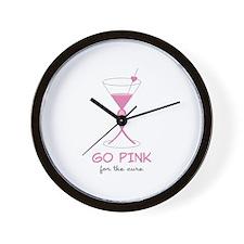 Go Pink Wall Clock