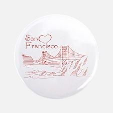Heart In San Francisco Button