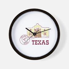Travel Texas Wall Clock
