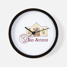 Travel San Antonio Wall Clock