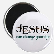 Jesus Can Change Life Magnets