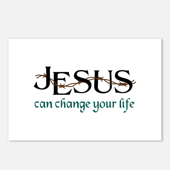 Jesus Can Change Life Postcards (Package of 8)