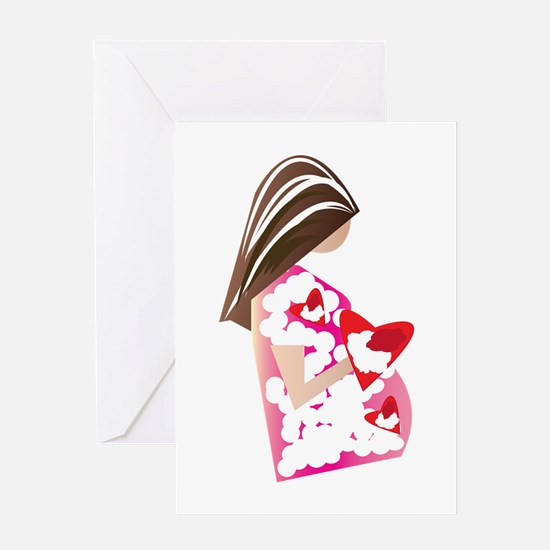 Expectant Mom Greeting Cards