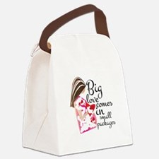 Big Love Canvas Lunch Bag